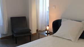 1 dormitorio, tabla de planchar con plancha, conexión a Internet