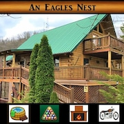 Eagles Nest - Mountain Views / Pool Table / Hot Tub / Rustic Decor