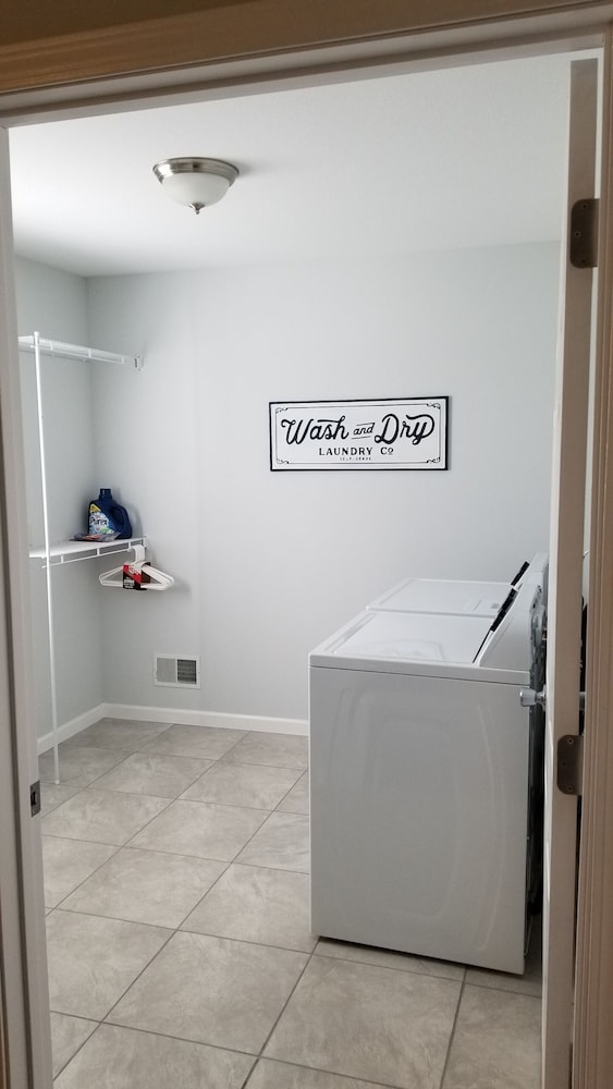 Laundry Room, Two Bed Room With Two Separate Luxury Bathrooms Including Jacuzzi Bathtubs