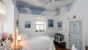 3 quartos, ferros/tábuas de passar roupa, roupa de cama