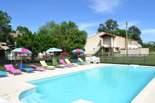 Gite Terrefort at the Domaine Las Brugues With Heated Pool Near Carcassonne