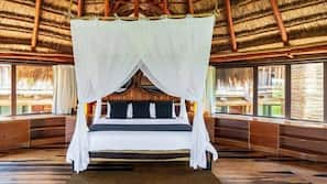 1 dormitorio, ropa de cama de alta calidad, caja fuerte
