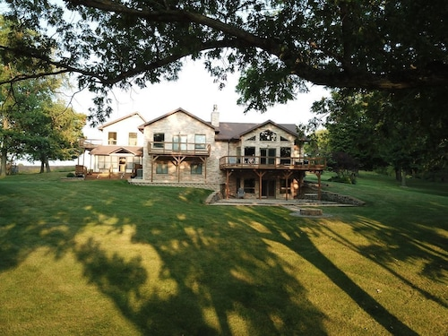 Exclusive Gated Riverfront Trilevel Home , Much Closer to Chicago Than Galena!