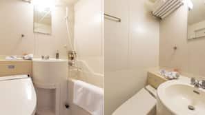 浴缸連淋浴設備、風筒、附設智能廁板的座廁