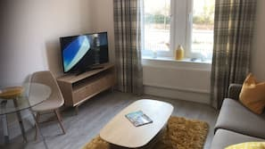 30-inch TV with cable channels