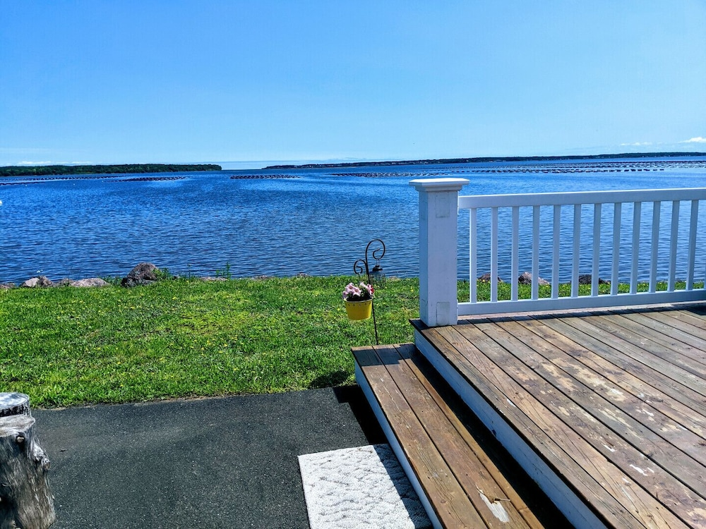 Balcony, Waterfront Cottage in Cocagne