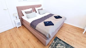 Iron/ironing board, cribs/infant beds, WiFi, bed sheets