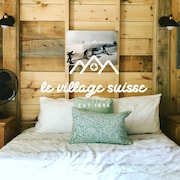 Le St-moritz : Cute & Cozy Cottage in Village Suisse Resort, Heart of Val-david