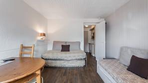 1 makuuhuone, vuodevaatteet