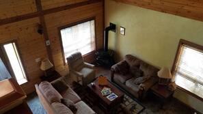 TV, fireplace, DVD player
