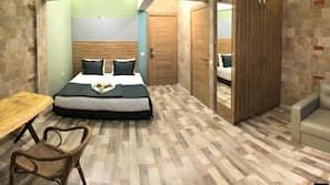 1 slaapkamer, een bureau, een strijkplank/strijkijzer, gratis wifi