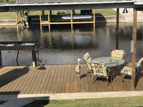 Waterfront, Inground Pool, Covered Boat Dock, Fenced 3/2 Home
