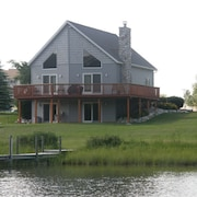 Relaxing Lodge on MIs Inland Waterway With 2 Docks! Only 20 Minutes to Mackinaw!