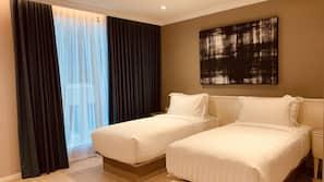 1 kamar tidur, seprai premium, dan bantalan ekstra lembut