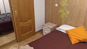 2 Schlafzimmer, Verdunkelungsvorhänge, kostenloses WLAN, Bettwäsche