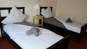 Blackout drapes, free WiFi, bed sheets, wheelchair access