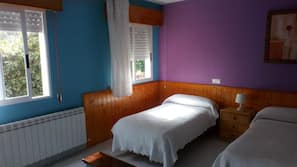Desk, blackout drapes, rollaway beds, bed sheets