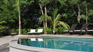 Outdoor pool, open 6:30 AM to 10:00 PM, sun loungers