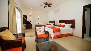 1 bedroom, hypo-allergenic bedding, down duvets, memory-foam beds