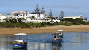 On the beach, white sand, free beach shuttle