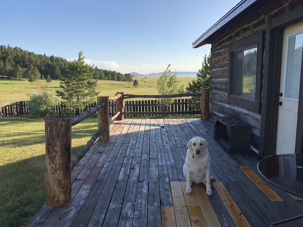 Balcony, Rustic log Cabin in the Beautiful Wyoming Black Hills!