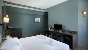 In-room safe, blackout drapes, soundproofing, free cribs/infant beds