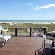 Direct Oceanfront Duplex With Large 3 Level Deck Next to Oceanana Fishing Pier