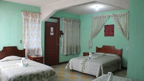 4 bedrooms, blackout drapes, iron/ironing board, free WiFi