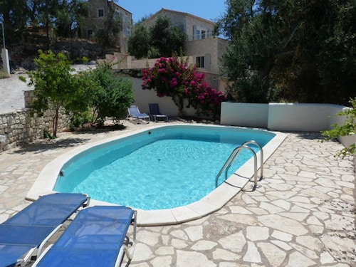 Studio in Lakka, With Wonderful sea View, Pool Access and Furnished Terrace - 2 km From the Beach