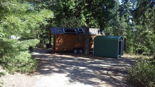Custom Built Tiny House Located in a Forest Setting Near the Town of Mccloud, CA
