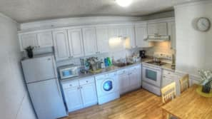 Microwave, oven, stovetop, cookware/dishes/utensils