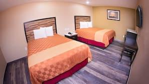 Pillowtop beds, desk, laptop workspace, free WiFi