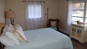 Memory foam beds, individually decorated, individually furnished, desk