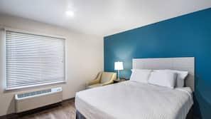 1 quarto, roupas de cama premium, camas com colchões pillow-top