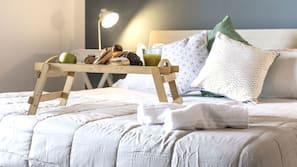 Daunenbettdecken, Betten mit Memory-Foam-Matratzen