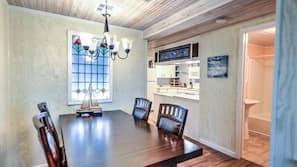 Hob, blender, dining tables