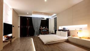 Down comforters, blackout drapes, soundproofing, bed sheets