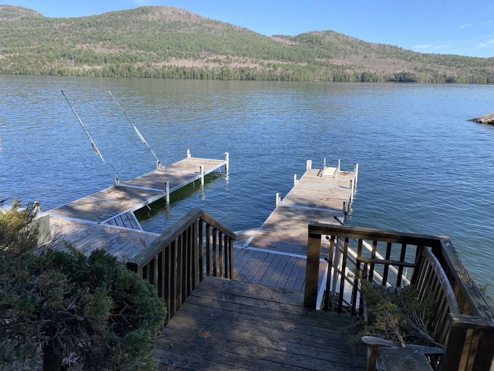 Bolton Landing Private Lake Front With 25 Foot Dock in Lake