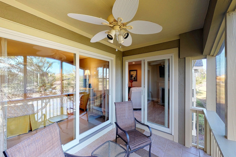 Balcony, Riverfront Home Close to Island Amenities - one dog Welcome!