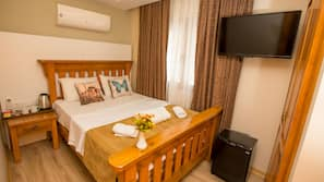 In-room safe, laptop workspace, blackout curtains, soundproofing