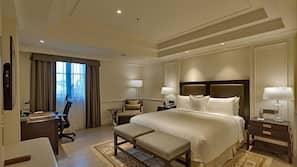 이집트산 면 시트, 고급 침구, 메모리폼 소재 침대, 미니바