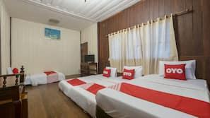 ตู้นิรภัยในห้องพัก, ห้องเก็บเสียง, Wi-Fi ฟรี, ผ้าปูที่นอน