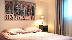 1 chambre, rideaux occultants, lits bébé (gratuits), Wi-Fi gratuit