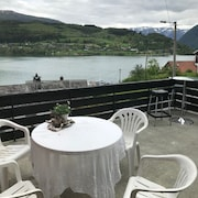 Ulvik Pearl Overlooking the Fjord and Mountains