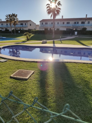 Apartment With 2 Bedrooms in Sant Jordi, With Pool Access, Enclosed Garden and Wifi - 17 km From the Beach