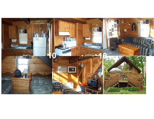 7/6-7/13 Full Week 2-bedroom Cabin on Ogemaw Lakefront Property