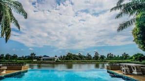 室外游泳池,07:00 至 18:30 开放,免费小屋,池畔遮阳伞