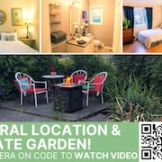Central, Cozy, Stylish & Spacious + Private Garden w/ Fire Table