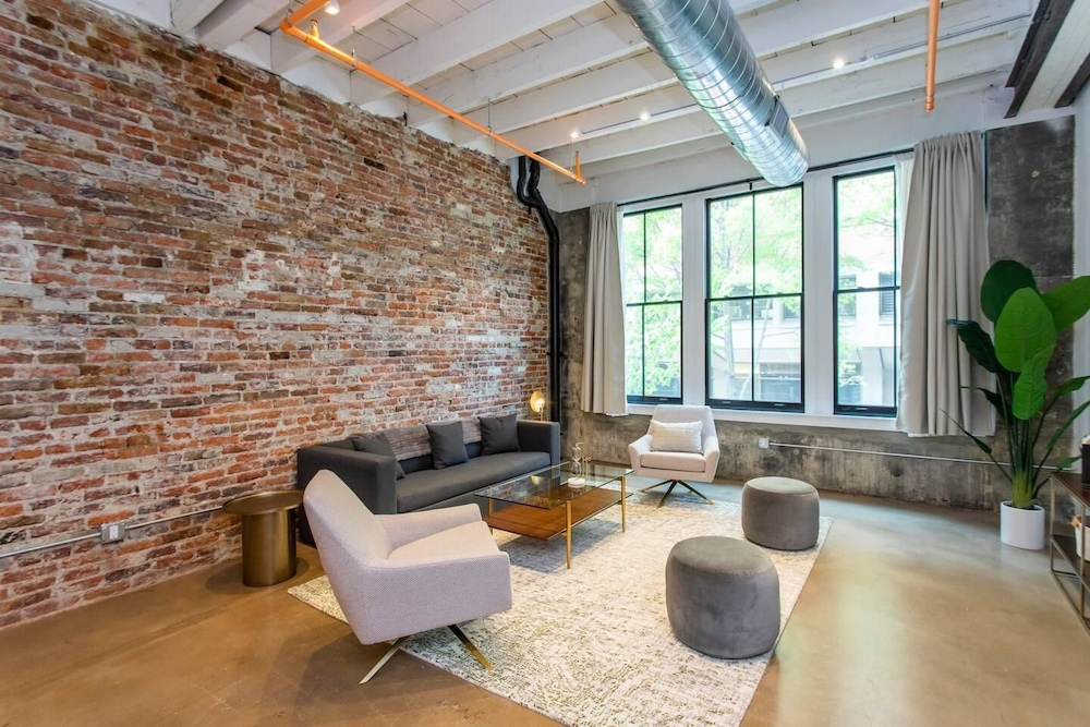 Living Room, Steps From Jefferson - New Boutique Building - Center City