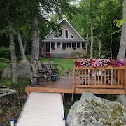 Beautiful  cottage in the woods on pristine  Branch Lake, Ellsworth ME